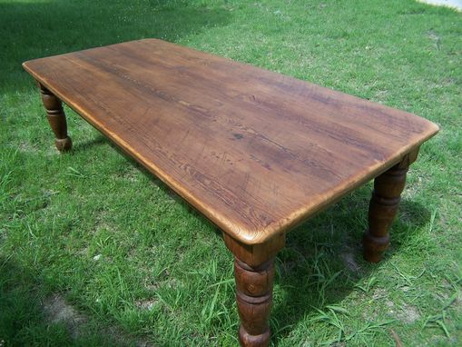 Custom Made Dining Table Made From Reclaimed Long Leaf Yellow Pine That Dates Back Over 100 Years Old