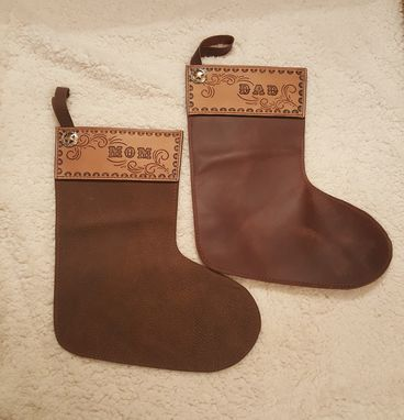 Custom Made Custom Leather Christmas Stockings