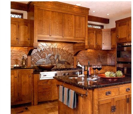 Custom Made Arts & Crafts Kitchen Remodel Of Cherry Wood