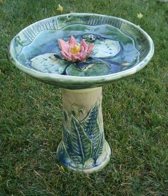 Custom Made Lotus Birdbath