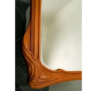 Custom Made Matching Mirror To Pearwood Vanity