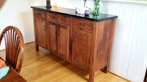 Custom Made Reclaimed Oak Craftsman Style Sideboard Server