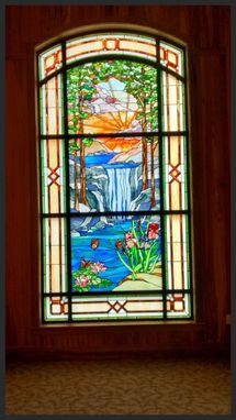 Custom Made Stained Glass Window Panel, Transom, Privacy Panel, Cabinet Inserts, Sidelights, Sky Lights