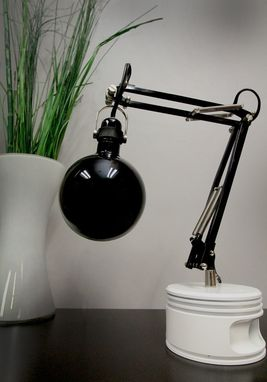 Custom Made Wwii Airplane Engine Modern Lamp In Black And White