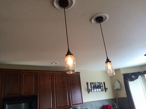 Custom Made Mason Jar Pendant Light