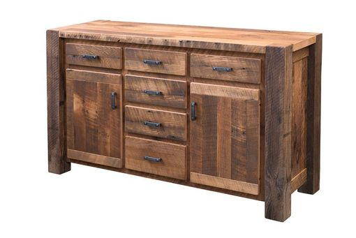Custom Made Reclaimed Timber Ridge Wood Buffet