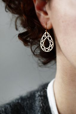Custom Made Geometric Diamond Cut Earings