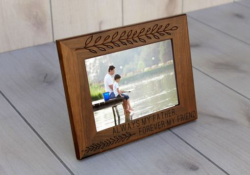 Custom Made Custom Engraved Picture Frames -- Pf-Wal-Always Father