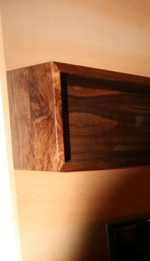 Custom Made Modern Walnut & Maple Wallhung Media Storage