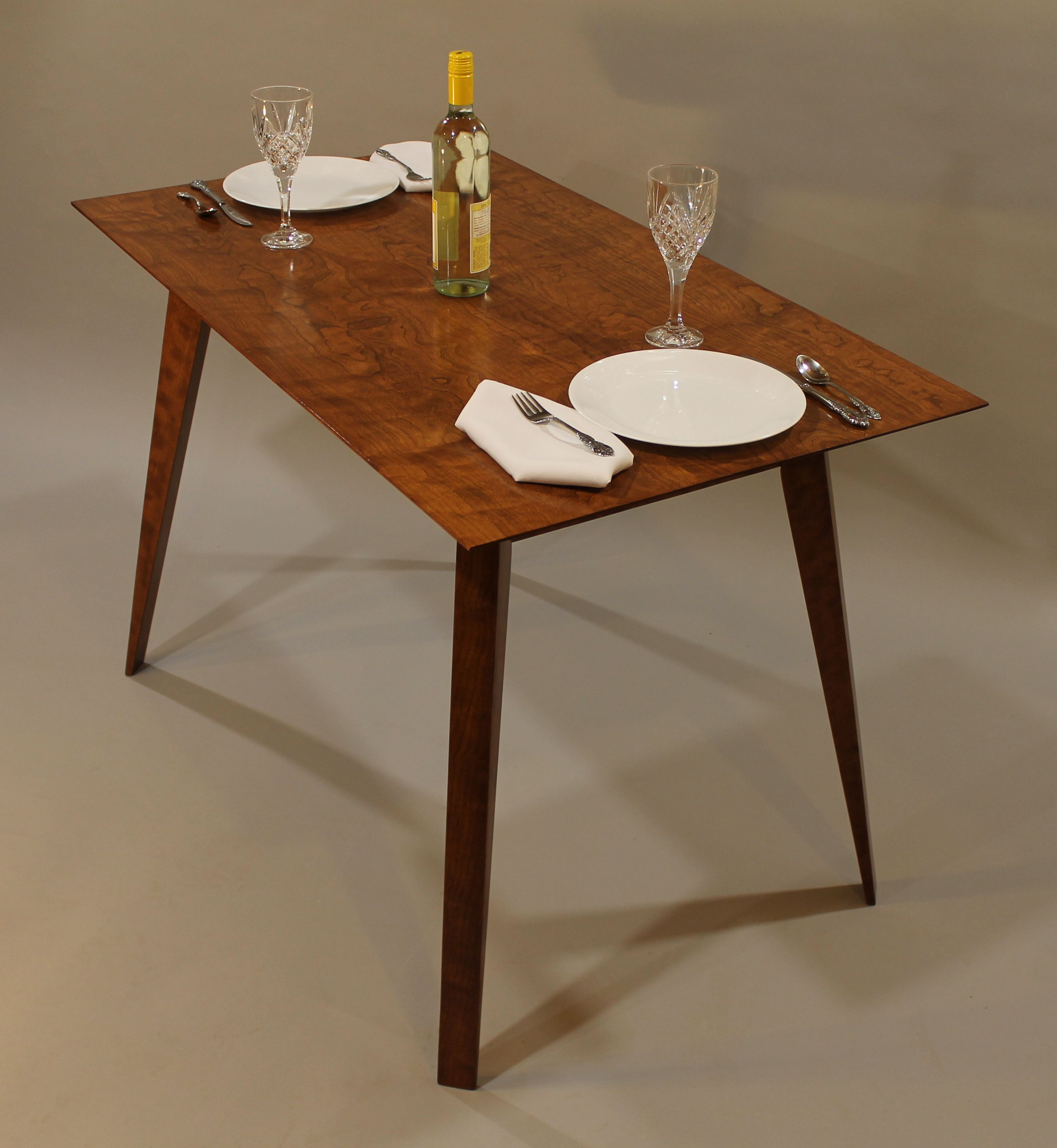 Hand Crafted Dining Table For Small Spaces by Paul Carlino ...