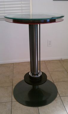 Custom Made Heavy Metal Pub Table And Barstools