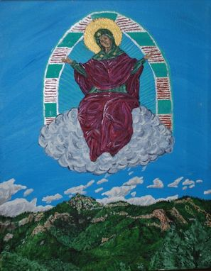 "Custom Made Painting/Icon: ""Theotokos Of Arizona"""