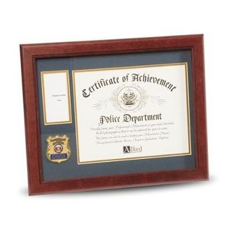 Custom Made Police Department Medallion Certificate And Medal Frame