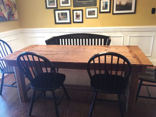 Custom Made Reclaimed Barn Wood Farmhouse Dining Table