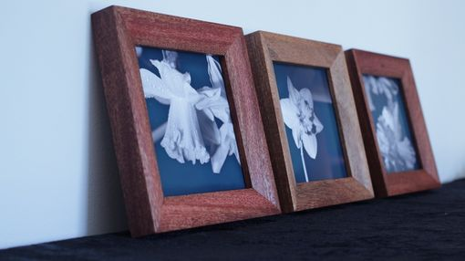 Custom Made Set Of Threebevel Mahogany Picture Frames