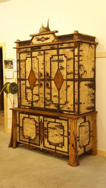 Custom Made Adirondack Rustic Hutch/Tv Cabinet