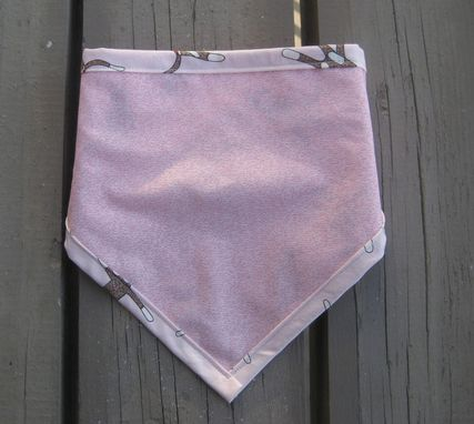 Custom Made Pink Sock Monkey Bandana Bib For Baby