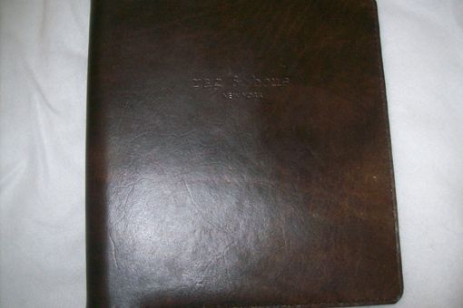 Custom Made Custom Leather Binder