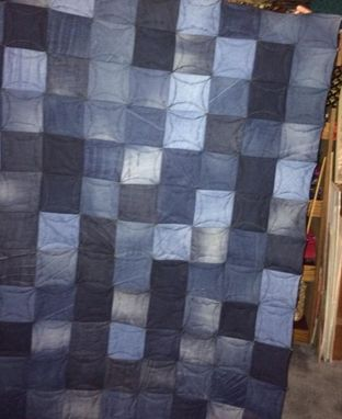 Custom Made Old Jeans Quilt