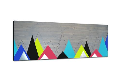 Custom Made Definitive Point 60x24 - Wood Wall Art, Metal Art, Home Decor, Abstract Painting