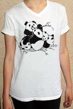 Custom Made Custom Panda Pile T-Shirt