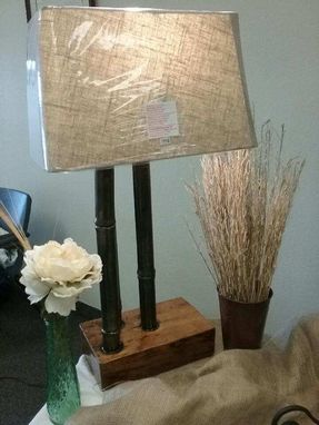 Custom Made Steel Bamboo Lamp