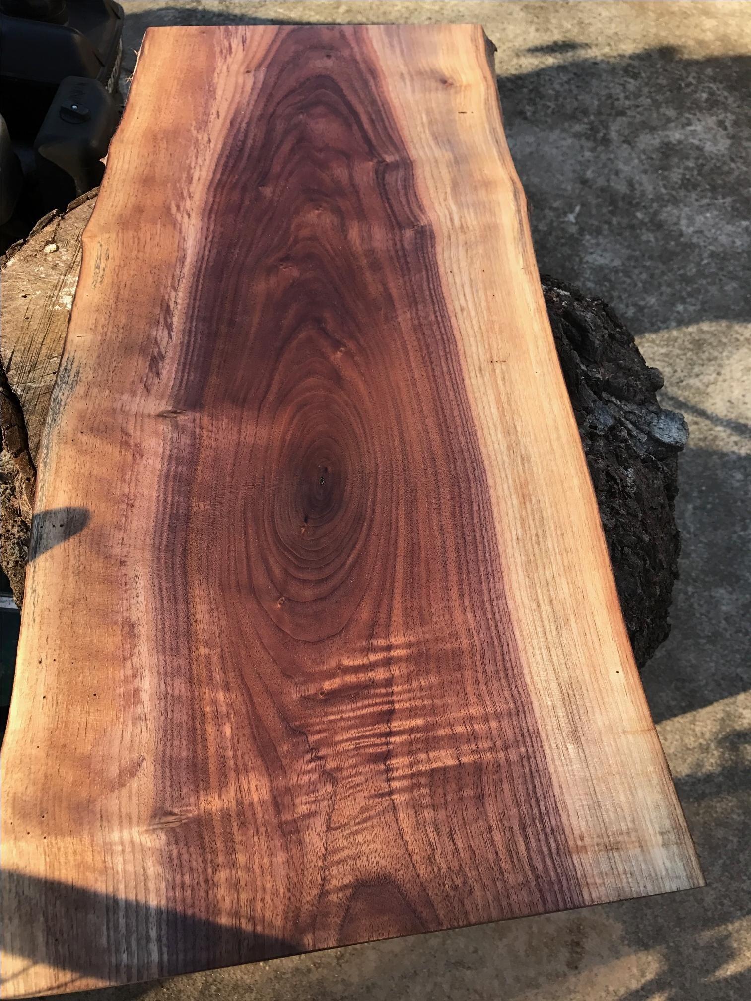 Hand Made Live Edge Black Walnut Cutting Board Or Serving