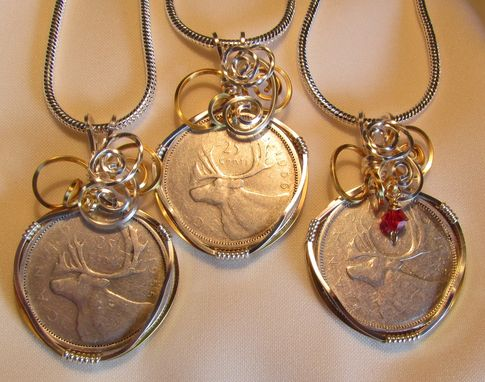 Custom Made Wrapped Coin Pendants
