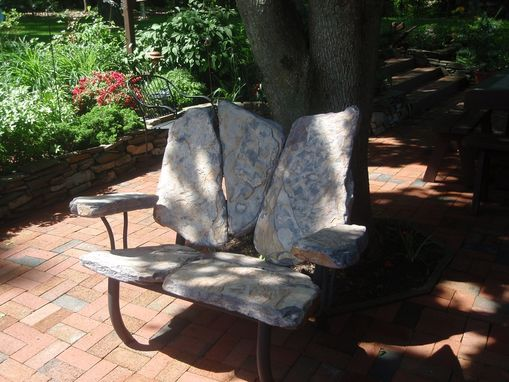 Custom Made Stone Loveseat