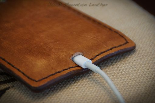 Hand Made Leather Cell Phone Holsters For Iphone 5 By