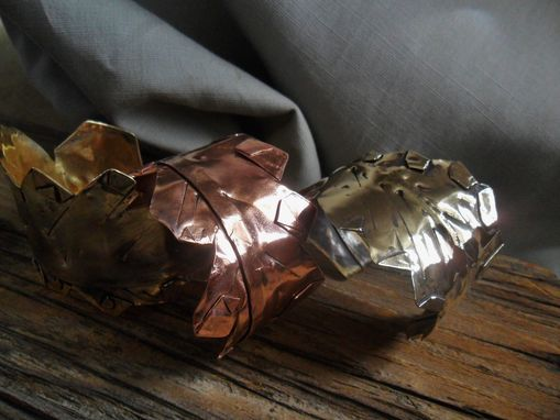 Custom Made Custom Leaf-Inspired Cuffs