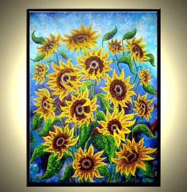"Custom Made Sunflower Reflections - 36""X48"""