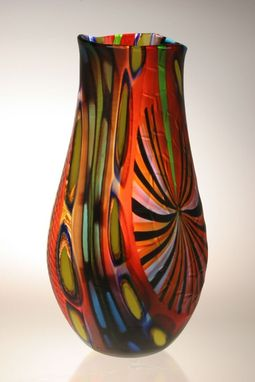 Custom Made Murano Art Glass Vase By Gianluca Vidal