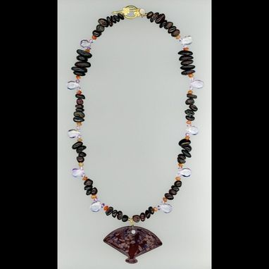 Custom Made Garnet Fan Necklace