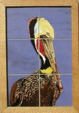 Custom Made Wild Birds On Hand Painted Ceramic Tile