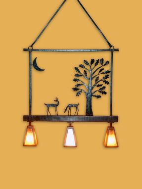 Custom Made Deer Lamp