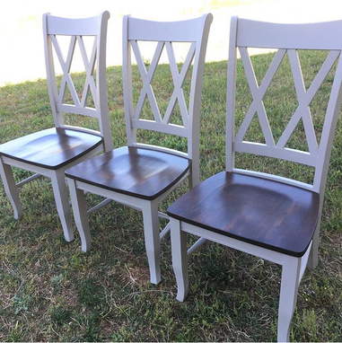 Custom Made Double X Style Farmhouse Chairs