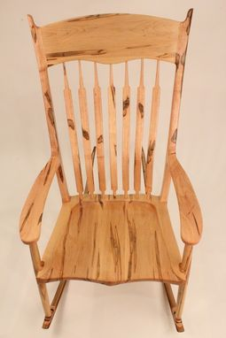 Custom Made Ambrosia Maple Rocking Chair
