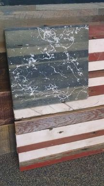 Custom Made Rustic Salvaged American Hardwood American Flag