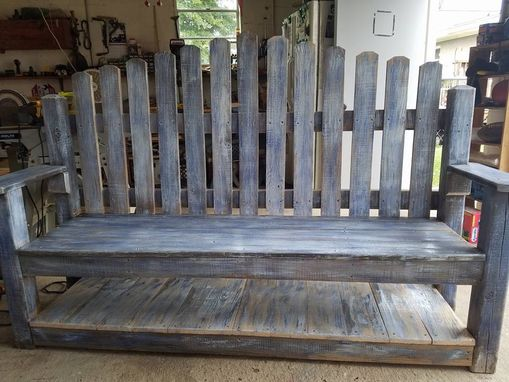 Custom Made Custom Weathered Outdoor Benches