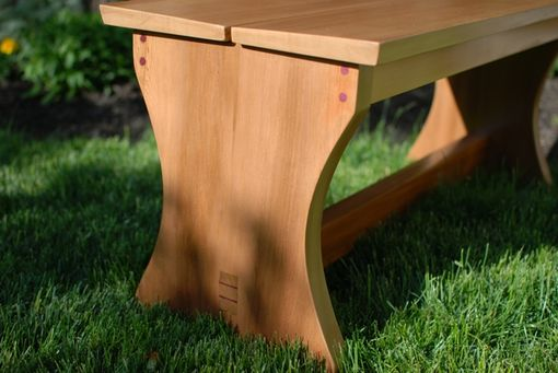 Custom Made Outdoor Cedar Garden Benches