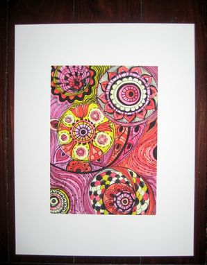 Custom Made Fine Art Print Chakras -Yellow Pink Orange Circles 5x7 Reproduction