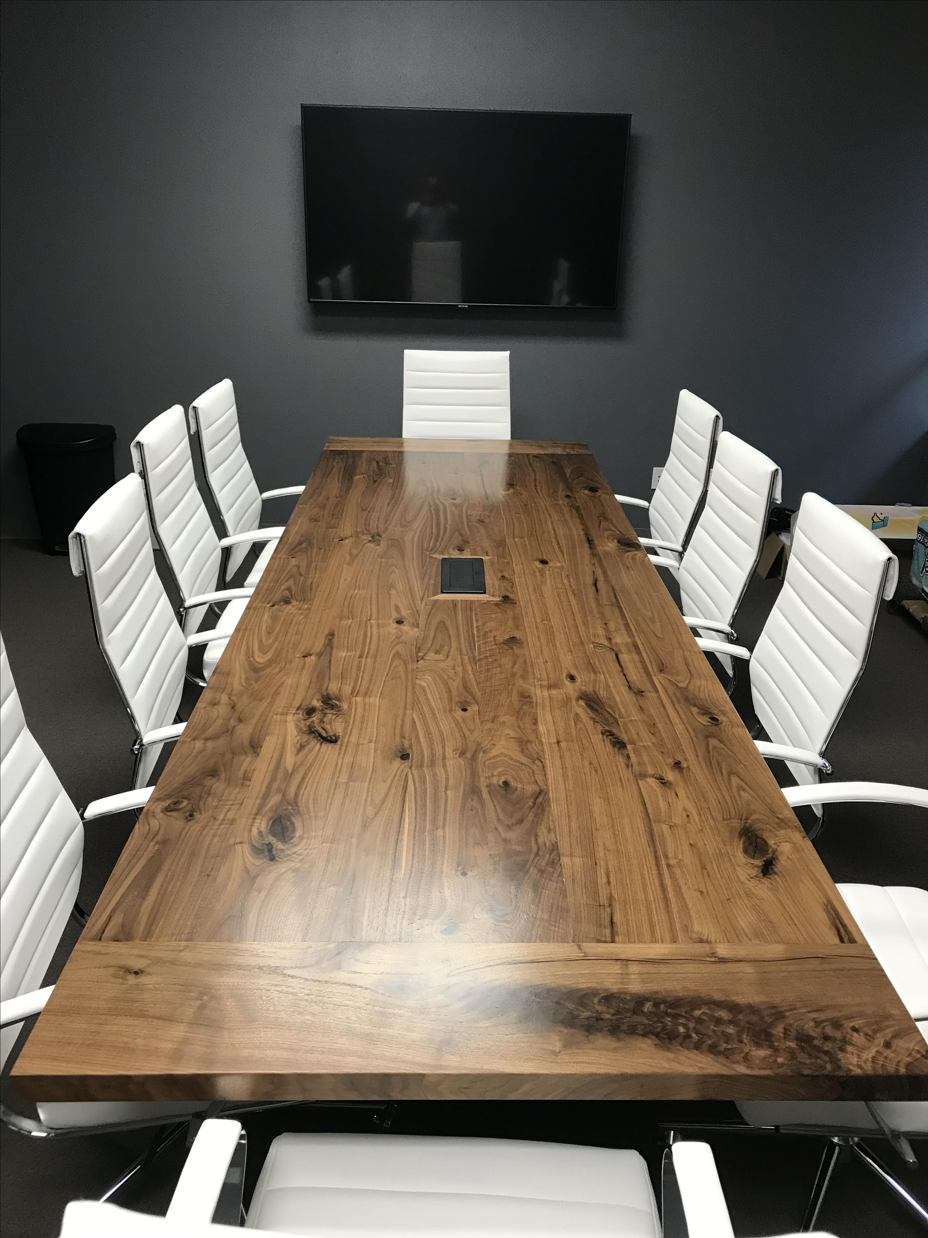 Hand Crafted 12 Ft Walnut Conference Table By Furniture By Carlisle Custommade Com