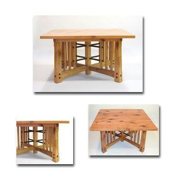 Custom Made Mountain Mission Square Extension Dining Table