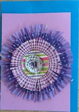 Custom Made Big Paper Flower Greeting Card
