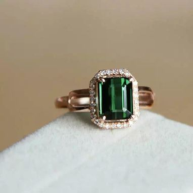 Custom Made 2.29 Carat Tourmaline Ring In 14k Rose Gold