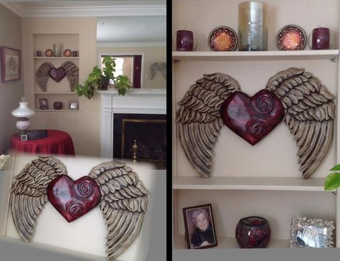 Custom Made Hand Carved Angel Wings & Wood Wall Decor