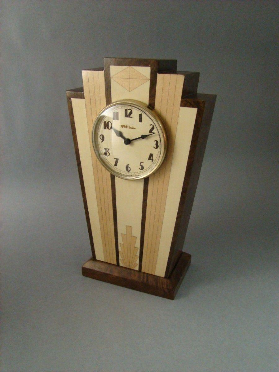 Custom clocks custommade art deco mantle clock mc40 amipublicfo Gallery