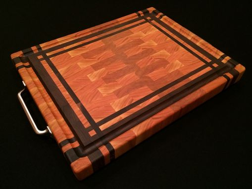 Custom Made End Grain Cherry With Black Walnut Inset Frame