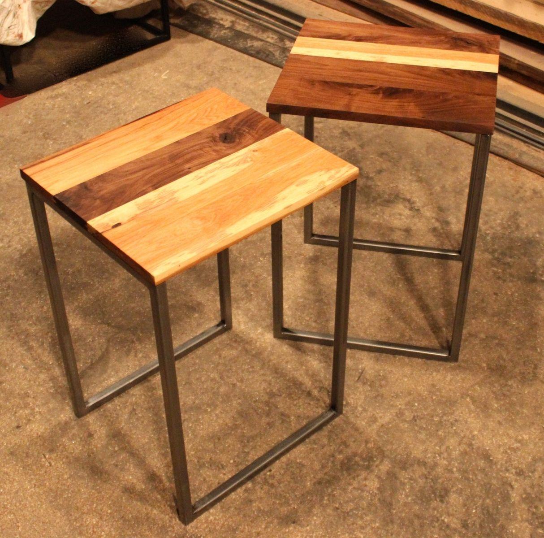 Handmade Black Walnut Amp Hickory Side Tables By K Modern